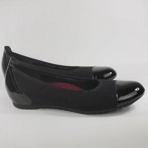 Munro Henlee Black Flat Patent Leather Toe &Heel 9